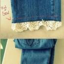 تزیین شلوار جین دخترانه